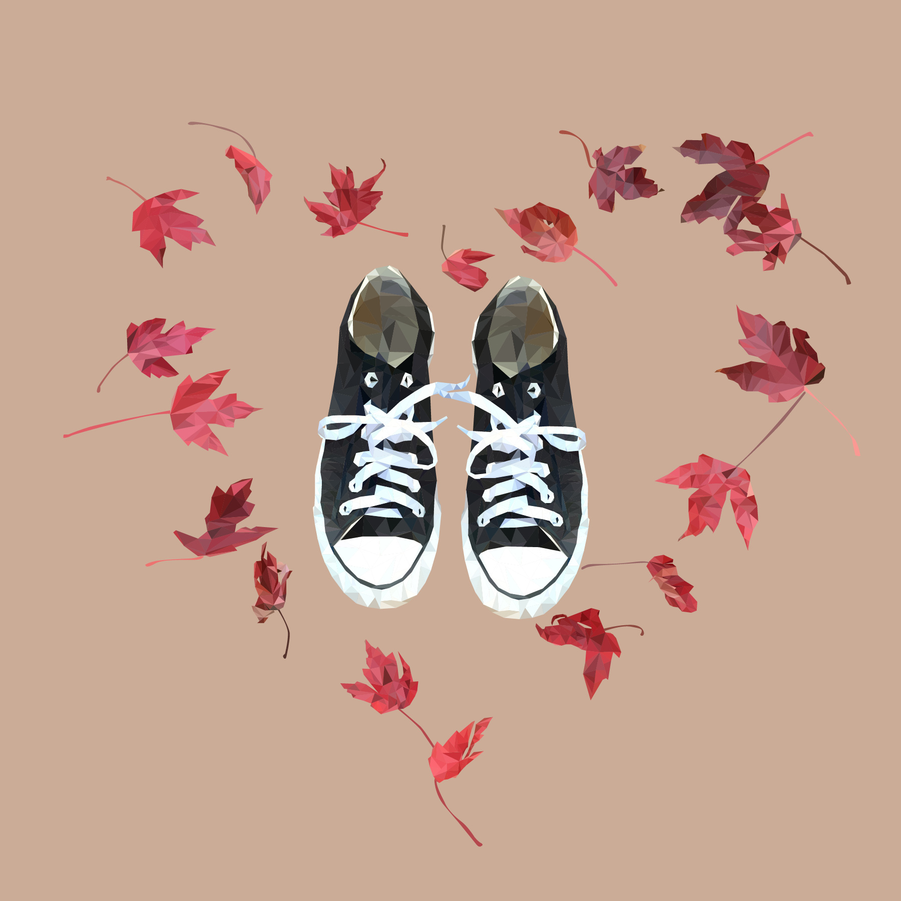 Low-PolyConverse With Leaves